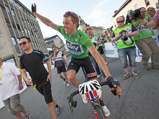 GÅR GLIPP AV DETTE: Edvald Boasson Hagen var innstilt på å forsvare de to foregående års seirer på Lillehammer.