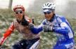 Tom Boonen og Nico Mattan liker seg i kulden i Kuurne-Brussel-Kuurne.(©TDWSport.com)
