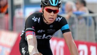 <b>FORSLÅTT:</b> Smertene etter massevelten på den 6. etappen av årets Giro d'Italia slapp ikke taket. Derfor brøt Edvald Boasson Hagen i dag det italienske etapperittet. FOTO: Tim De Waele/TDWSPORT.COM
