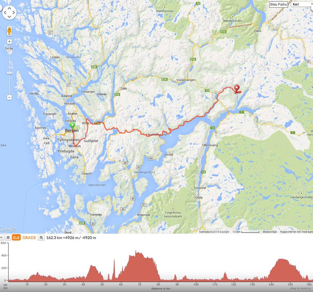kart ulvik Slik sykles Tour des Fjords   Procycling.no kart ulvik
