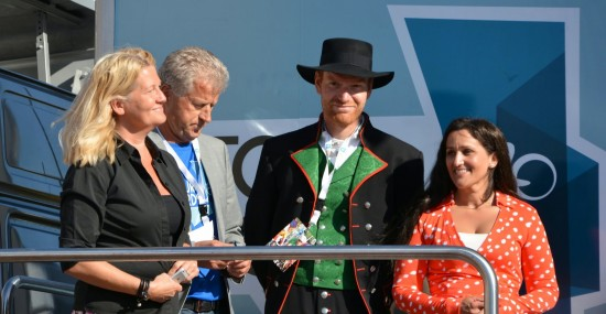 OFFENSIVE: Roy Hegreberg (midten) vil at Øster Hus-Ridley skal prege rittet med offensiv kjøring. Foto: Einar Oliver Landa