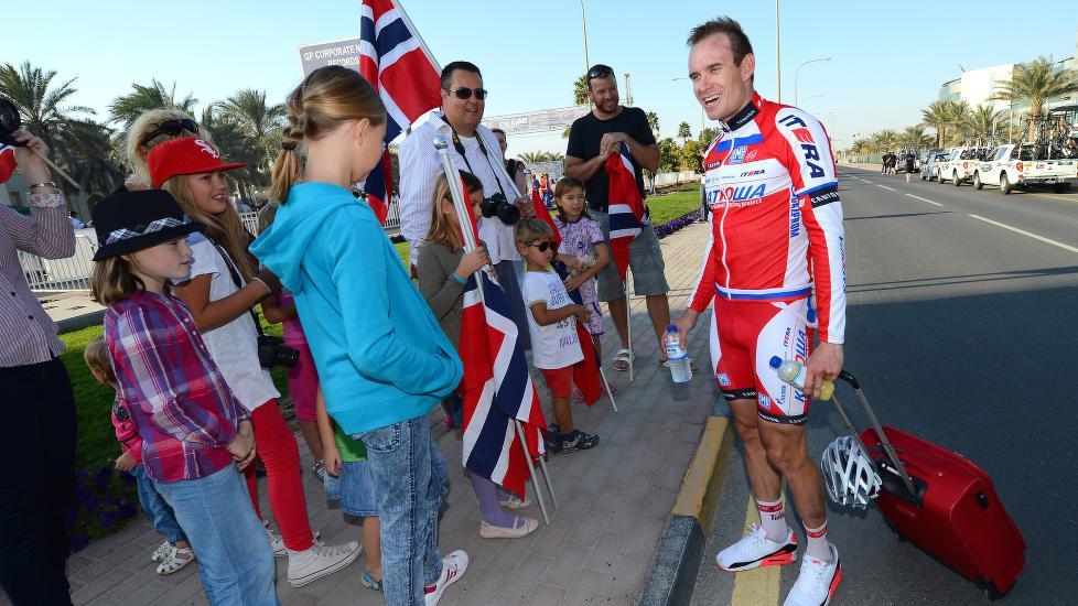 <b>ENSOM STJERNE:</b> I år har vi kun Alexander Kristoff i Tour de France, men om ti år kan vi ha 10-15 mann, mener Gino Van Oudenhove. Han er sentral i det som blir Norges første prokontilag fra 2016-sesongen. FOTO: Tim De Waele/TDWSPORT.COM