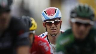 SÅ NÆRE: Etter heroisk kjemping endte Alexander Kristoff 35 sekunder bak sammenlagtfavoritt Vincenzo Nibali på søndagens tøffe etappe i Tour de France. Foto: Cornelius Poppe / NTB scanpix