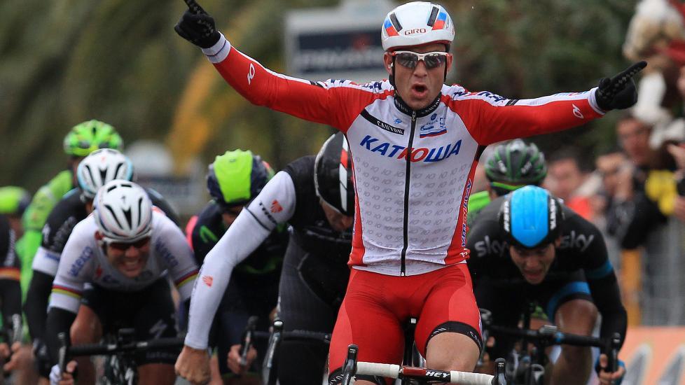 BLANT DE STORE: Alexander Kristoff vant Milano-Sanremo i vår. Nå jakter han suksess i Tour de France. Foto: Jean-Christophe Magnenet (NTB Scanpix/Afp)
