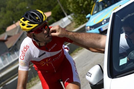 SPANSK TRIUMF: Daniel Navarro (Cofidis) tok en imponerende seier på fredagens etappe av Spania rundt. Foto: NTB SCANPIX/LIONEL BONAVENTURE