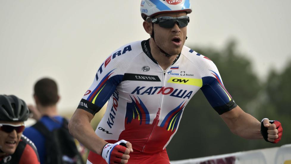 <b>I STORSLAG:</b> Alexander Kristoff triumferte igjen i Tour of Qatar onsdag, og tok hans andre seier på tre dager. Foto: LIONEL BONAVENTURE / AFP / NTB Scanpix