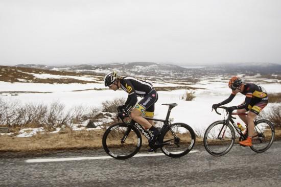 GODE TAKTER: Edvald Boasson Hagen viste form igjen, mens Andreas Vangstad ble beste norske kontinentalrytter og er på femteplass sammenlagt. Foto: Kristoffer Øverli Andersen