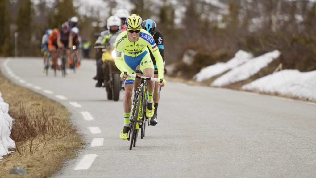 BEST I FJOR: Danske Jesper Hansen. Foto: Kristoffer Øverli Andersen (www.procycling.no)