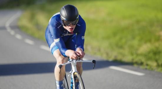 <b>RÅSTERK:</b> Truls Engen Korsæth tok sin tredje NM-medalje da han ble nummer tre på tempoen i NM. Foto: Kristoffer Øverli Andersen (www.procycling.no)