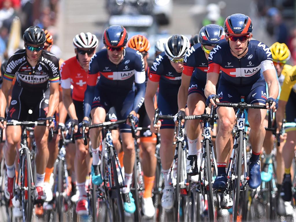PÅ UTGÅENDE KONTRAKTER: Ledige IAM Cycling-ryttere har forsøkt å overbevise kjøperne under årets Tour de France. Foto: Tim de Waele (©TDWSport.com)