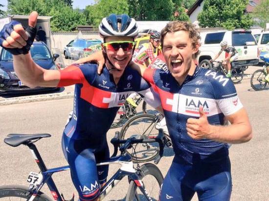 VILL JUBEL: Holst Enger ga IAM-gutta grunn til å juble på 1.etappe i Østerrike rundt søndag. (foto: IAM Cycling)