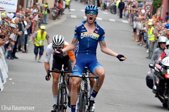 VANT ETAPPE: I fjor vant eresfjordingen Bjørn Tore Hoem en etappe i Tour Alsace, og ble nummer tre sammenlagt. I år er han blant de sterkeste på et godt Joker-lag. FOTO: Elisa Haumesser