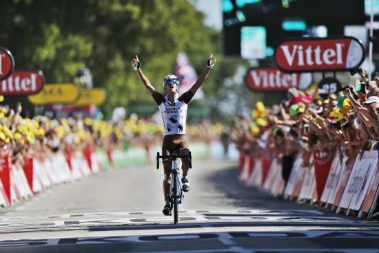 VANT OL-TEST: Alexis Vuillermoz var del av et svært potent, fransk mannskap som inntok Rio i august. Her vinner han etappe under Tour de France. EPA/KIM LUDBROOK