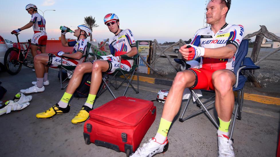 <b>SLIPPER UNNA LAGSTRAFF:</b> Sykkelsportens rådende organer mener Giampaolo Carusos positive dopingprøve skal dateres til 2012. Da kan Alexander Kristoff fritt fortsette VM-oppkjøringen slik han hadde sett for seg. FOTO: Tim De Waele/TDWSPORT.COM