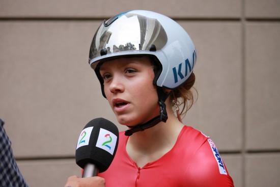 UREDD: Susanne Andersen ble nummer fem under VM-debuten som junior. FOTO: Per Erik R. Mæhlum/Norges Cykleforbund