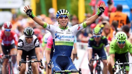 2 AV 2: Caleb Ewan har feid motstanden av oppløpet under Tour Down Under. Trener Stein Ørn er spent på å se hva som skjer når 21-åringen inntar Europa.  EPA/DAN PELED AUSTRALIA AND NEW ZEALAND OUT