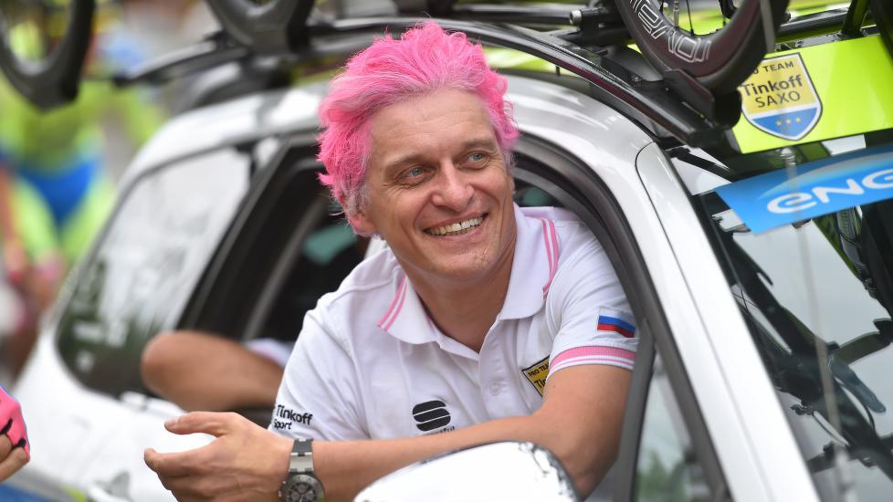 <b>EKSENTRISK:</b> Oleg Tinkov har lagd mye lyd i sykkelsporten de siste årene. Etter 2016-sesongen er det imidlertid slutt. Foto: Tim de Waele (©TDWSport.com)