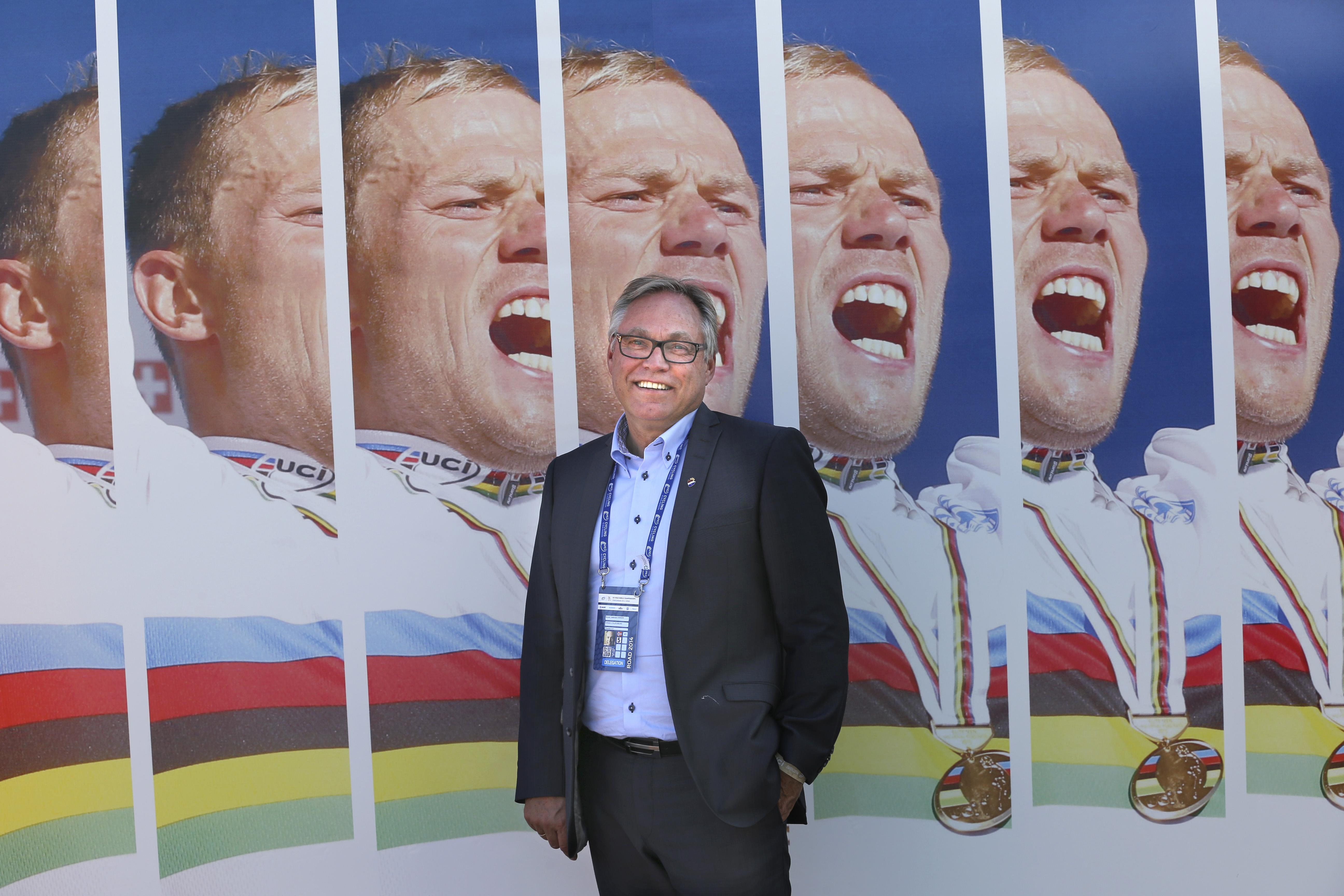 EM-ENTUSIAST: Harald Tiedemann Hansen sitter som visepresident i UEC, og hadde nok håpet å se norske sykkelproffer under EM i Plumelec. Foto: Vidar Ruud / NTB scanpix