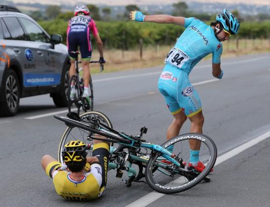 Cycling: 18th Santos Tour Down Under 2016 / Stage 5 KAMYSHEV Arman (KAZ)/ ROGLIC Primoz (SLO)/ Crach Chute Val / McLaren Vale -Willunga Hill 374m (151.5Km) / Etape Rit Ronde TDU (c)Tim De Waele