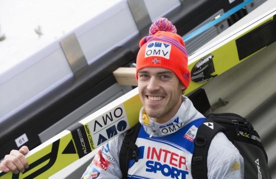 Innsbruck, Østerrike 20160102. Andreas Stjernen i lørdagens kvalifisering. I morgen er det tredje rennet i hoppuka. Foto: Terje Bendiksby / NTB scanpix