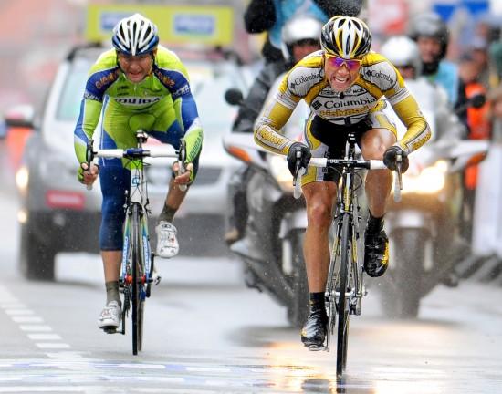 Cycling: 71th Gent - Wevelgem Arrival Sprint / Edvald BOASSON HAGEN (Nor / Aleksandr KUSCHYNSKI (Rus) / Gent (Deinze) - Wevelgem (203 Km) / Gand Ghent / (c) Tim De Waele