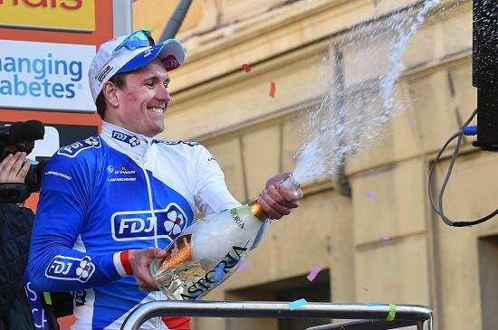 Cycling: 107th Milan - Sanremo 2016 Podium/ DEMARE Arnaud (FRA)/ Celebration Joie Vreuge/ Champagne/ Milano - Sanremo (291Km) Milano Milaan © Tim De Waele