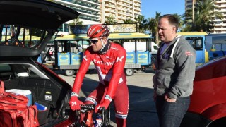 DEMPET HÅP: Trener Stein Ørn (til høyre) mener Alexander Kristoff vil få det vanskelig med å gjenskape de siste to årenes topplasseringer i Milano-Sanremo. Foto: Tim de Waele (©TDWSport.com)