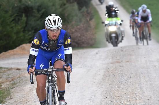 EN OFFENSIV VIRVELVIND: Gianluca Brambilla var den store hjemmehelten under årets Strade Bianche. Foto: Tim de Waele (©TDWSport.com)