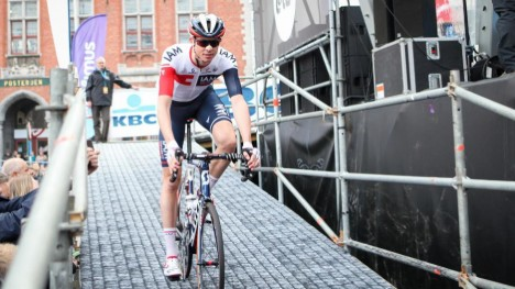 SPARES: Vegard Stake Laengen blir ikke med IAM Cycling til Paris-Roubaix. FOTO: Kjetil Rakkenes Anda, procycling.no.