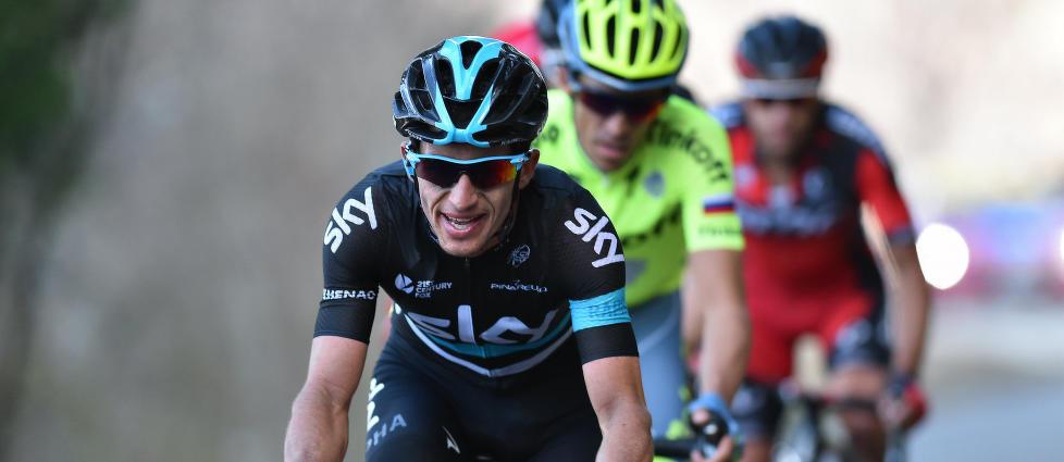 I SUPERFORM: Sergio Henao klatret best av samtlige under Baskerland rundt. Han får ikke starte La Flèche Wallonne fordi UCIs antidopingstiftelse har åpnet etterforskning etter funn av unormale blodverdier i hans bilogiske pass. FOTO: Tim De Waele/TDWSPORT.COM
