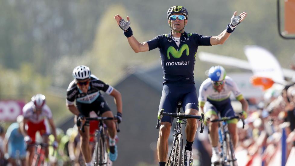 VANT: Alejandro Valverde vant årets Flèche Wallonne. Her fra fjoårets triumf. Foto: Francois Lenoir (Scanpix/Reuters)