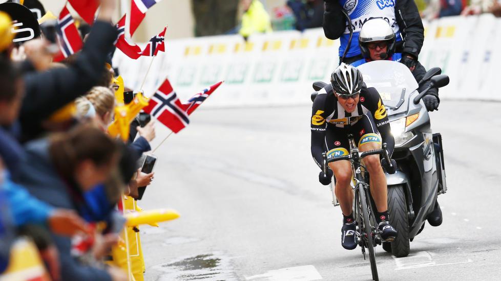<b>STÅR HAN ØVERST I ÅR?</b> Edvald Boasson Hagen ble nummer to i fjorårets Tour of Norway. Her er han avbildet på etappen mot Geilo, der Jesper Hansen slo ham.