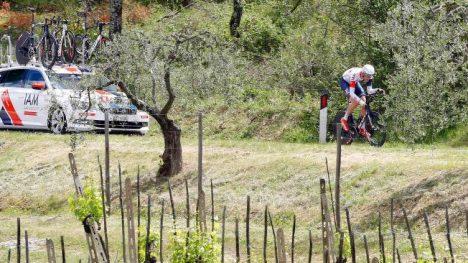 I FORM:  Vegard Stake Laengen levete en ny sterk etappe i Giro d'Italia onsdag. Her avbildet under tempoetappen søndag. Foto: LUK BENIES / Afp / NTB scanpix