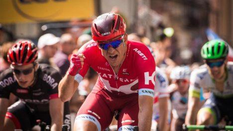FRUSTRERT: Kristoff går sannsynligvis ut av Le Dauphiné uten seier i år. Det utgjør ingen optimal opptakt til Tour de France. AFP PHOTO / LIONEL BONAVENTURE
