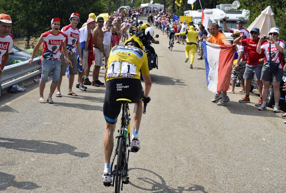 Cycling : 100th Tour de France 2013 / Stage 15  Christopher Froome (GBr) Yellow Jersey / Nairo Quintana (Col)/  Givors - Mont Ventoux (242,5Km)/  Ronde van Frankrijk TDF / Rite Etape / pool (c)Tim De Waele