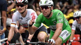 VANT: Mark Cavendish tok sin tredje etappeseier i årets Tour de France. Her fra tidligere i rittet. Foto: Jeff Pachoud (Scanpix/Afp)