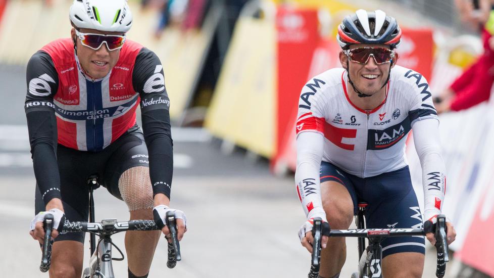 SAMMENLIKNES: IAM-sjef Verbugghe sier Holst Enger minner om Boasson Hagen. Nå håper han Tour-debutanten får skikkelig oppfølging hos sitt nye lag. Foto: Audun Braastad / NTB scanpix