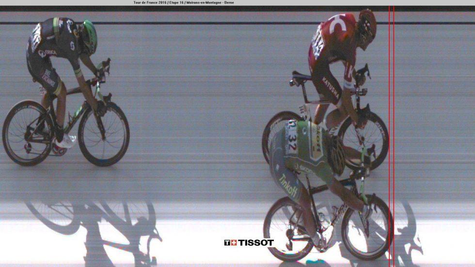 MARGINER: Sværte lite skilte Sagan og Kristoff i mandagens finale i Bern. AFP PHOTO / A.S.O / HO