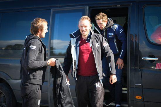Stjernetrio: Av disse tre er det kanskje Kristoff som har dårligst støtte fra laget for øyeblikket. Démare har nylig sikret seg Jacobo Guarnieri fra nordmannenes lag. Foto: Kjetil R. Anda / procycling.no