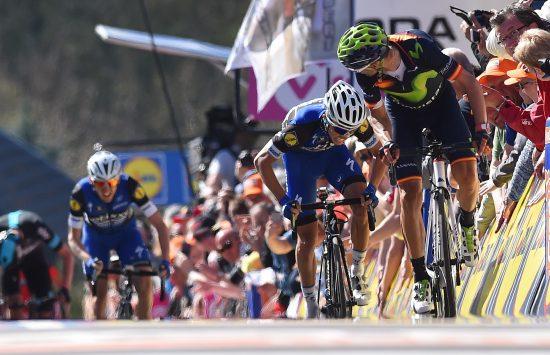 Cycling: 80th Fleche Wallonne 2016 Arrival / VALVERDE Alejandro (ESP)/ ALAPHILIPPE Julian (FRA)/ MARTIN Daniel (IRL)/ Marche-en-Famenne - Mur de Huy (196Km)/ © Tim De Waele