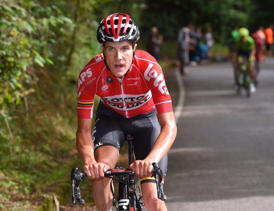 OFFENSIV: Louis Vervaeke prøver å danne et brudd under en av klatreetappene i Vuelta a España. Foto: Tim de Waele (©TDWSport.com)