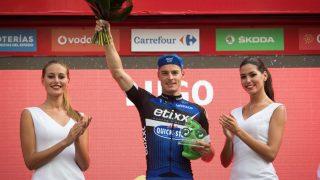 GIR SEG: Gianni Meersman tok to etappeseirer under Spania rundt i 2016. Nå har legene gjort skremmende funn. 31-åringen stanser toppidrettssatsingen på dagen. FOTO: AFP PHOTO / JAIME REINA