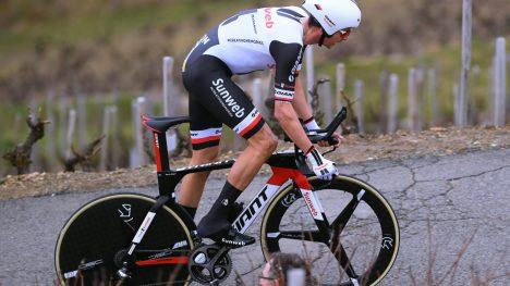 UT PÅ TUR: Warren Barguil hadde som mål å vise fram hvor god han var blitt med temposykkelen