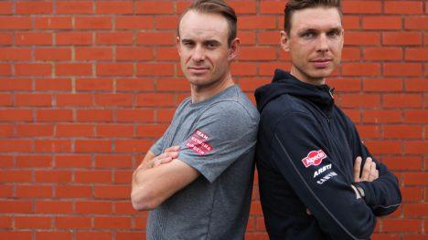 FARLIG DUO: Katusha-Alpecin stiller med to kapteiner i Flandern rundt søndag. Alexander Kristoff og Tony Martin. FOTO: Kjetil R. Anda/procycling.no