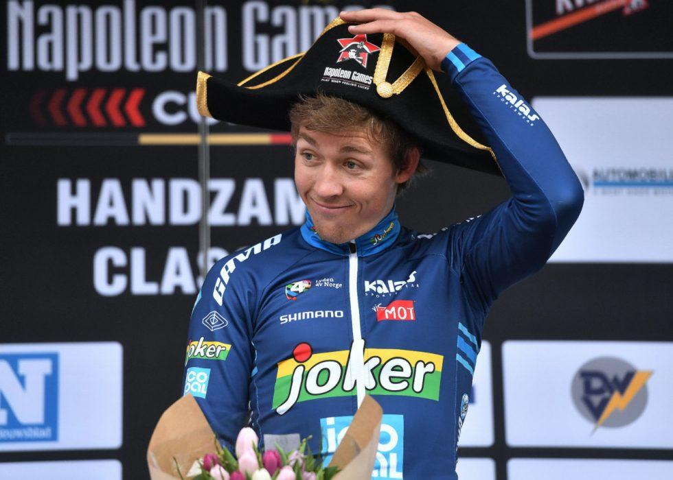 TUNG START: Kristoffer Halvorsen er klargjort foran Tour of Norway