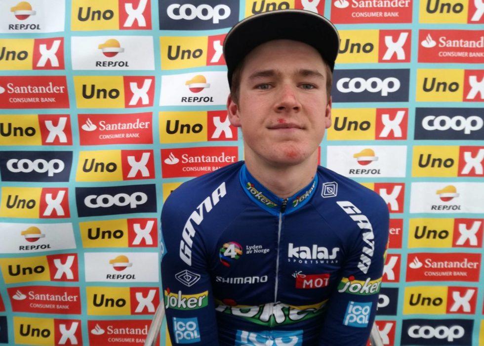 PLASTER PÅ SÅRET: Ole Forfang ligger på en femteplass i sammendraget og har den hvite trøya
