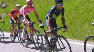 INGEN ENDRING: Nairo Quintana maktet ikke å kjøre fra mannen i rosa på den 18. etappen i Giro d'Italia. Foto: Tim de Waele (©TDWSport.com)