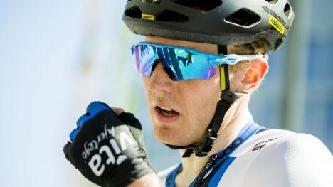 SKUFFET: August Jensen var langt nede etter fjerde etappe i Tour des Fjords. Foto: Vegard Wivestad Grøtt / NTB scanpix