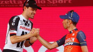 LA ONDT BLOD TILSIDE: Vincenzo Nibali anerkjenner Tom Domulins girotriumf