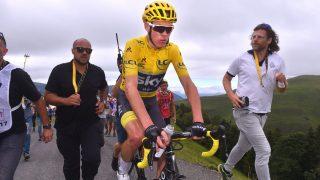MISTET GULT: Froome distansert i siste fjell på etappe 12. FOTO: Tim De Waele.